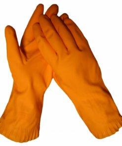 werkhandschoenendiscounter KCL Ideal 752 latex oranje met vlokvoering lengte 31 cm